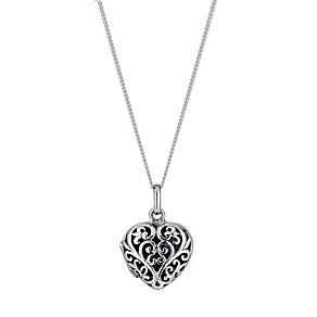 Silver Heart Filigree locket - Product number 9276815