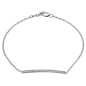 9ct white gold diamond set bar bracelet - Product number 9277080