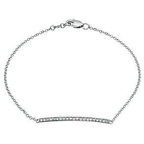 9ct white gold diamond set bar bracelet - Product number 9277080