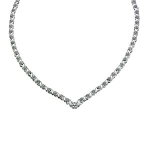 9ct white gold 11/2 diamond cluster collar - Product number 9277188