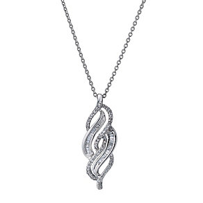 9ct white gold 0.25ct diamond pendant - Product number 9277234
