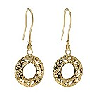 9ct yellow gold round detailed drop earrings - Product number 9277846