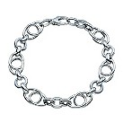 "9ct white gold link fancy 7.5"" bracelet - Product number 9278184"
