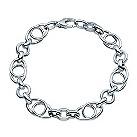"9ct white gold link fancy 7.5"" bracelet - Product number 9278184"