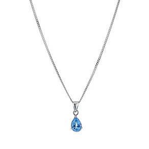 Sterling Silver Blue Topaz Teardrop Pendant - Product number 9278222