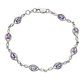 Viva Colour Silver & Amethyst Bracelet - Product number 9278338