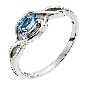 Viva Colour Silver & Blue Topaz Ring Size P - Product number 9278370