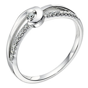 Love's Embrace 9ct white gold & diamond ring - Product number 9278591