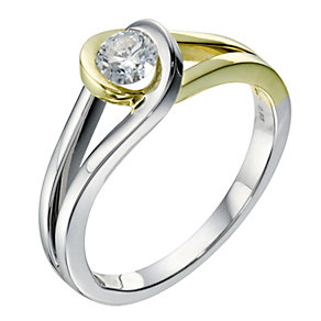 Love's Embrace 9ct yellow & white gold diamond ring - Product number 9278931