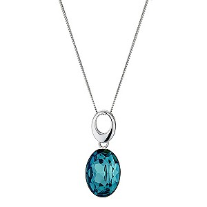 Viva Colour Silver Blue Crystal Drop Pendant - Product number 9279067