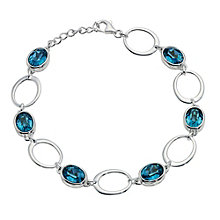 Silver & Blue Crystal Oval Bracelet - Product number 9279075
