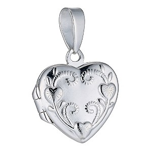 Sterling Silver Flower & Scroll Locket - Product number 9279822