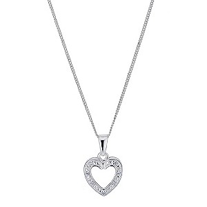 Sterling Silver Open Heart Pendant - Product number 9279830
