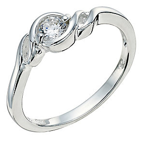Silver cubic zirconia twist design ring - Product number 9279989