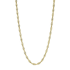9ct yellow gold sparkle twist 17.75mm chain necklace - Product number 9280367