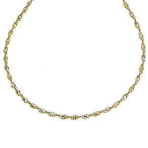 "9ct two colour gold 18"" necklace - Product number 9280383"