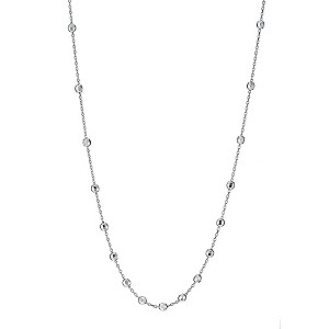 9ct white gold diamond cut ball necklace - Product number 9280391