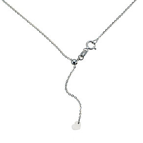 "9ct white gold 20"" flat belcher chain - Product number 9280413"
