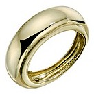 9ct yellow gold plain domed ring - Product number 9280499
