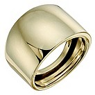 9ct yellow gold plain wide domed ring - Product number 9280502