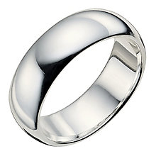 Men's plain silver ring 6mm - Product number 9282092