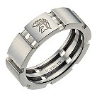 Spartans men's stainless steel three bar ring - Product number 9282351