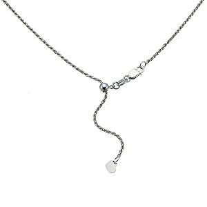 "9ct white gold 20"" rope chain - Product number 9283021"