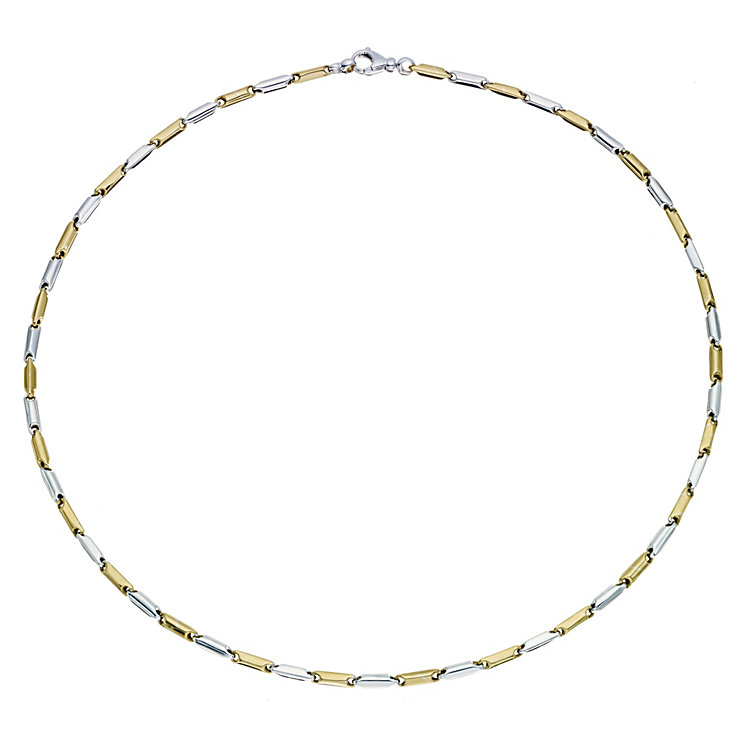 "9ct white & yellow gold 18"" link necklace - Product number 9283048"