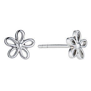 Sterling Silver Open Flower Earrings - Product number 9283153