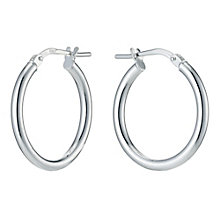 Silver Plain Hoop Earrings - Product number 9285261