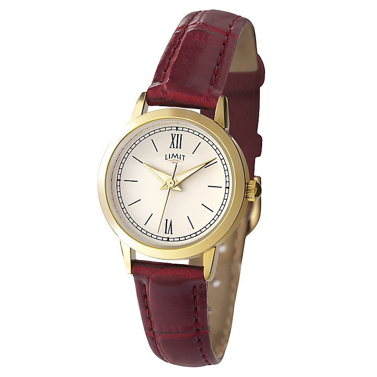 Limit Burgundy Strap Watch - Product number 9285563