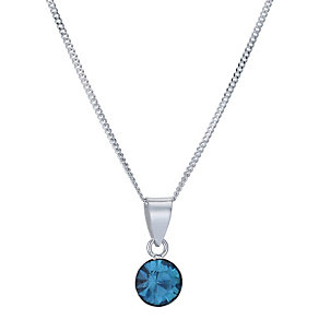 Viva Colour Silver & Blue Crystal Pendant - Product number 9285806