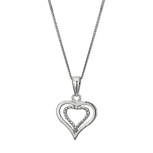 Silver Double Heart Pendant - Product number 9286438
