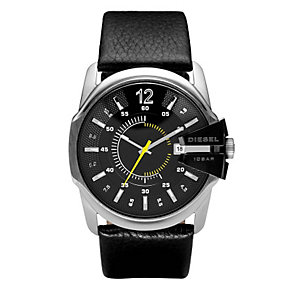 Diesel Men's Master Chief Black Leather Strap Watch - Product number 9286527