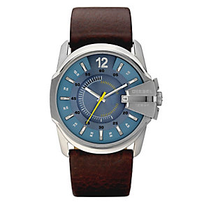 Diesel Men's Master Chief Brown Leather Strap Watch - Product number 9286535