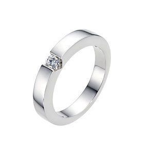 Amanda Wakeley 18ct white gold & diamond solitaire ring - Product number 9286810