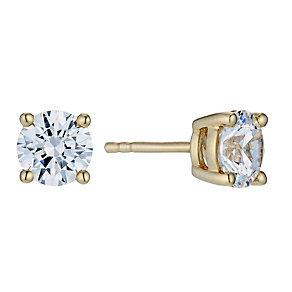 Silver & 18ct Gold Plated Studs Made With Swarovski Zirconia - Product number 9289267