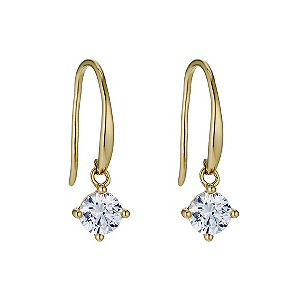 Silver & 18ct Gold Plated Swarovski Zirconia Drop Earrings - Product number 9289275