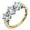 Silver & 18ct Gold Plated Swarovski Zirconia Trilogy Ring - Product number 9289437
