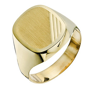 Together Bonded Silver & 9ct Gold Men's Engraved Ring - Product number 9290044