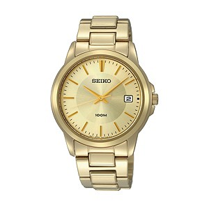 Seiko Men's Gold-Plated Bracelet Watch - Product number 9290702