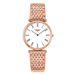 Longines men's rose gold plated bracelet watch - Product number 9290818