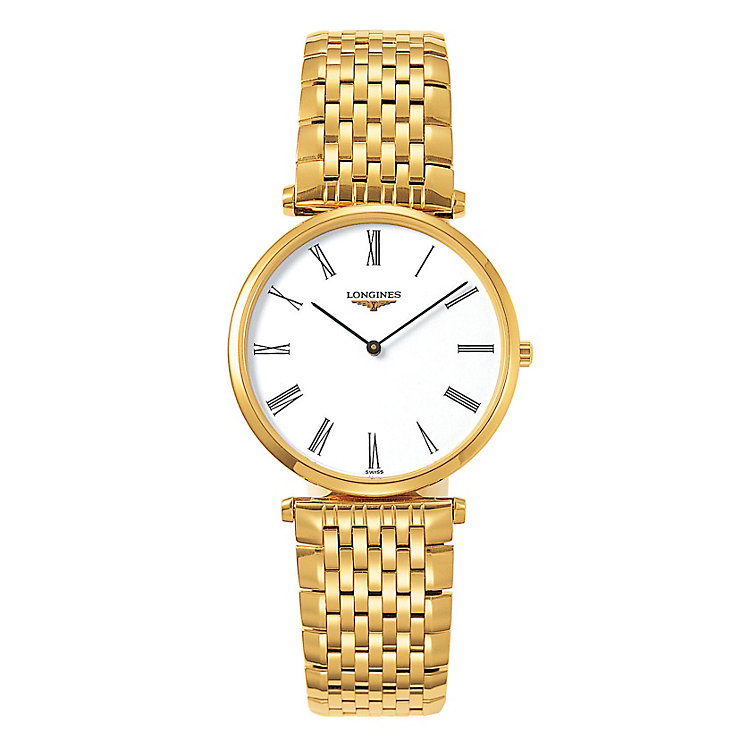 Longines Mens Gold Plated Bracelet Watch Product Number 9290826