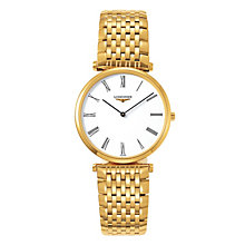 Longines men's gold plated bracelet watch - Product number 9290826