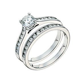 Tolkowsky 18ct white gold 1.00ct I-I1 diamond bridal set - Product number 9292233