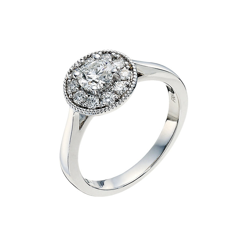 Tolkowsky 18ct white gold 3/4 carat halo ring - Product number 9292373