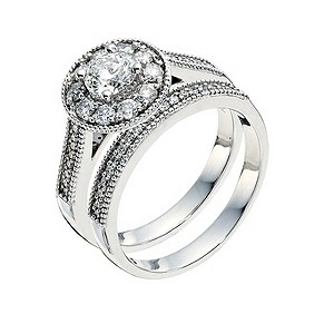 Tolkowsky 18ct white gold 1 carat diamond halo bridal set - Product number 9292519