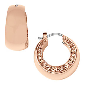 DKNY ladies' rose gold stone set earrings - Product number 9293639