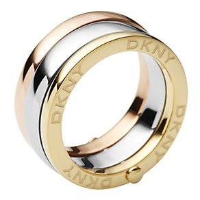 DKNY three colour hinged rings - size M1/2 - Product number 9293779
