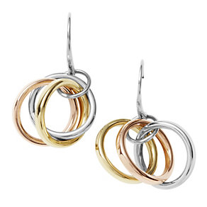 DKNY ladies' three colour hoop hook earrings - Product number 9293787